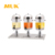 MUK professional restaurant supplier gold plating three heads juice dispenser juice bucket