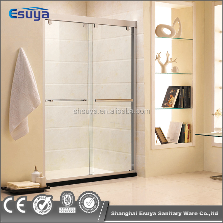 Aluminum frame shower screen and 8mm/10mm tempered glass double sliding door shower