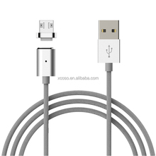 hot selling 3.9ft 1.2m detachable magnetic micro USB data cable with nylon braided jacket and led indicator light