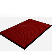 Cheap comfort ribs red floor outdoor tile carpet with pvc backing