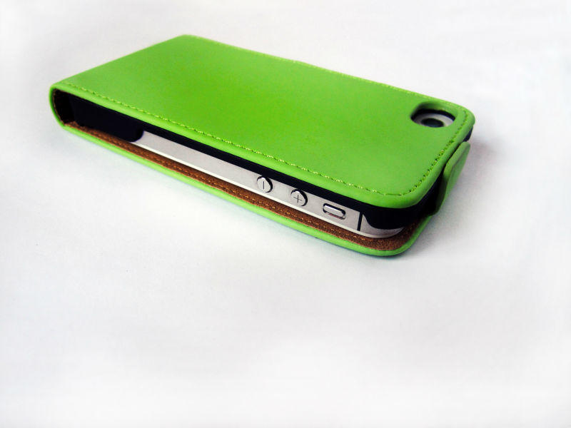 For iphone 4 case luxury/PU+PC hard leather case