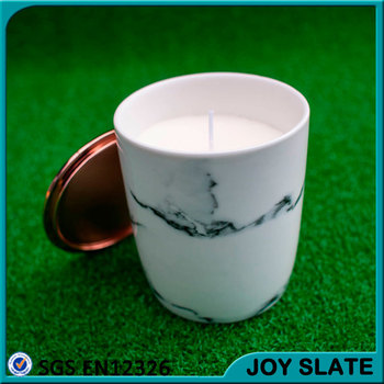 White soy wax wedding ceramic candle holder