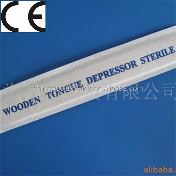 cello wrapped disposable wooden tongue depressor