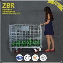 New arrival stackable metal pallet wire mesh cage for storage racking system