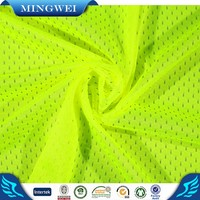 Near shaoxing textile polyester mesh fabric knitting for sports clothing shoes vamps New Design Breathable Tricot