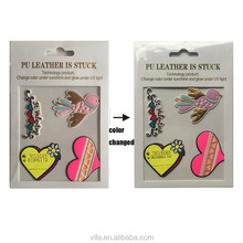 3D Sticker Bag Phone Jacket Shoe Patches Color Changing PU Leather Sticker