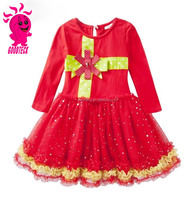 Wholesale baby frock girls party dresses design children's clothing factory kids girls christmas red dresses