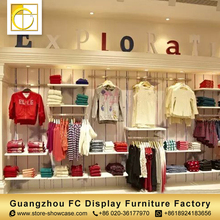 high quality custom garment shop decoration furniture baby shop clothes display rack kids clothing store interior design