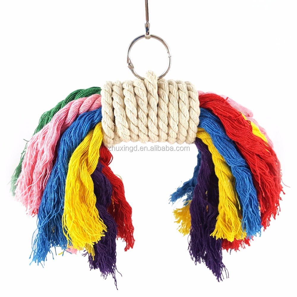 Rypet Bird Wood Chew Toy, Colorful Bird Cage, toys for Medium to Large-sized Breeds Bird
