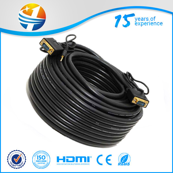1.3V Gold HDMI to VGA cable for mac HD-15 Male Cable 6ft 1.8M 1.5M 2M Male to Male HDMI to VGA/DVI/RCA/ adapter converte cable
