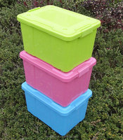 50L solid color plastic garden storage containers