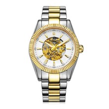 Gold Luxury Stainless Steel Mechanical Watch, OEM mechanical watch