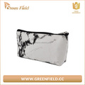 Waterproof makeup washable organizer storage pouch women marble paper toiletry travel cosmetic bag