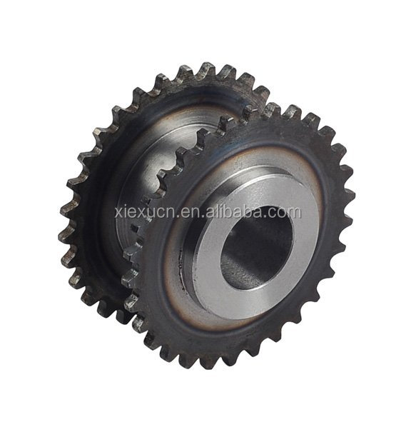 Double row sprocket motorcycle chain sprocket