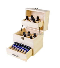 hot selling FSC Doterra 5-15ml Essential Oil Wooden case packing Box Organizer - Large Wood Storage Case Protects 68 Oils. box