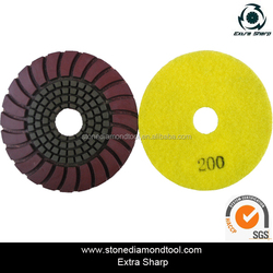 Sunflower Resin Bond hook and loop fastener Back Polishing Pads Diamond Tools for Marble/Granite/Concrete