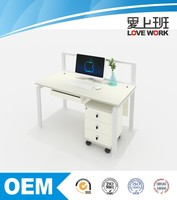 2016 modern melamine front office freestanding computer desk design