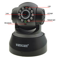 Hot sale lovely Pan tilt mini wireless webcam with Two-way audio and night vision from shenzhen webcam manufacturer