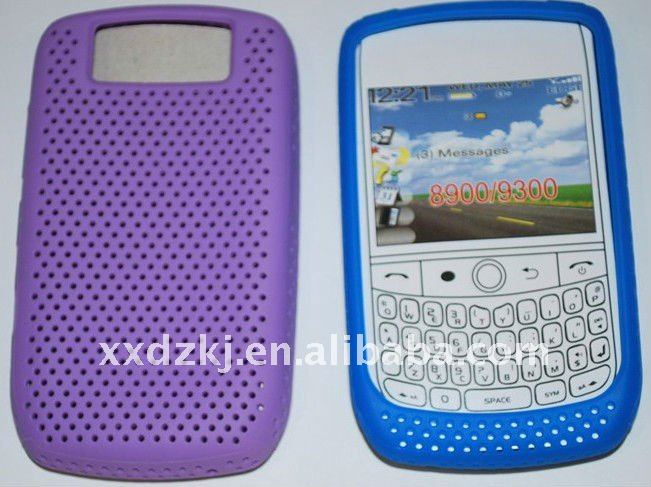 reticulation silicone skin case for blackberry 9300