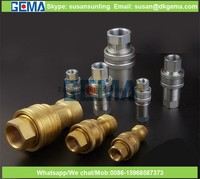 reusable High pressure brass quick connect couplings KZD hydraulic quick coupling /brass quick release coupling