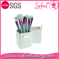 Sofeel high quality square shaped makeup brush holder cosmetics case