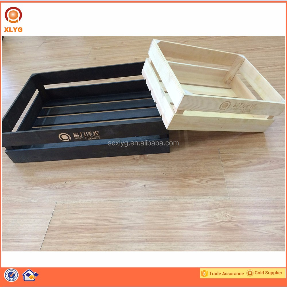 Factory wooden box decorate crate packed bread wooden box