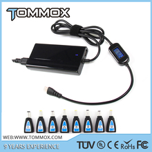 Business trip carrying 5v 2a usb port laptop notebook 75w adapter w/ LCD display