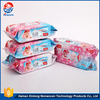 80 or 10 pcs economical custom design convenient spunlace nonwoven fabric wet tissue wipes for baby