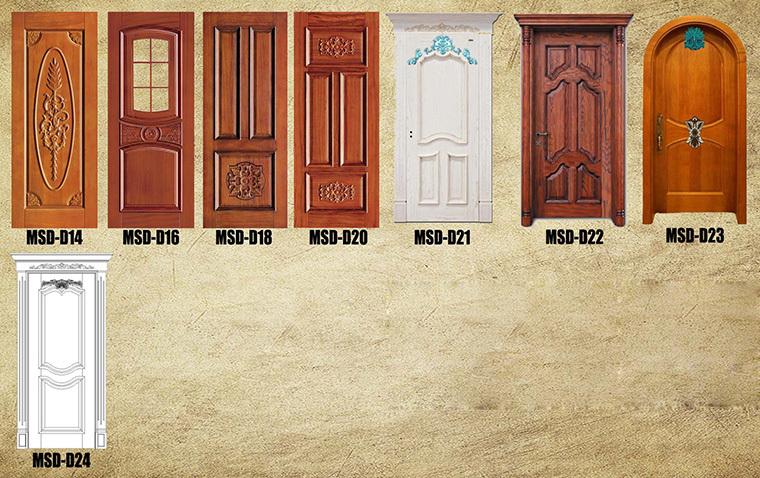 New Design Round Top Wooden Entry Door House
