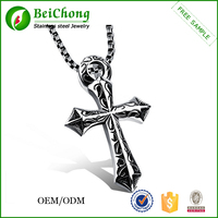 Fashion jewelry western unique large silver cross pendants