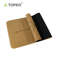 TOPKO Wholesale Private label Natural yoga mat, roller, block, cork yoga mat set