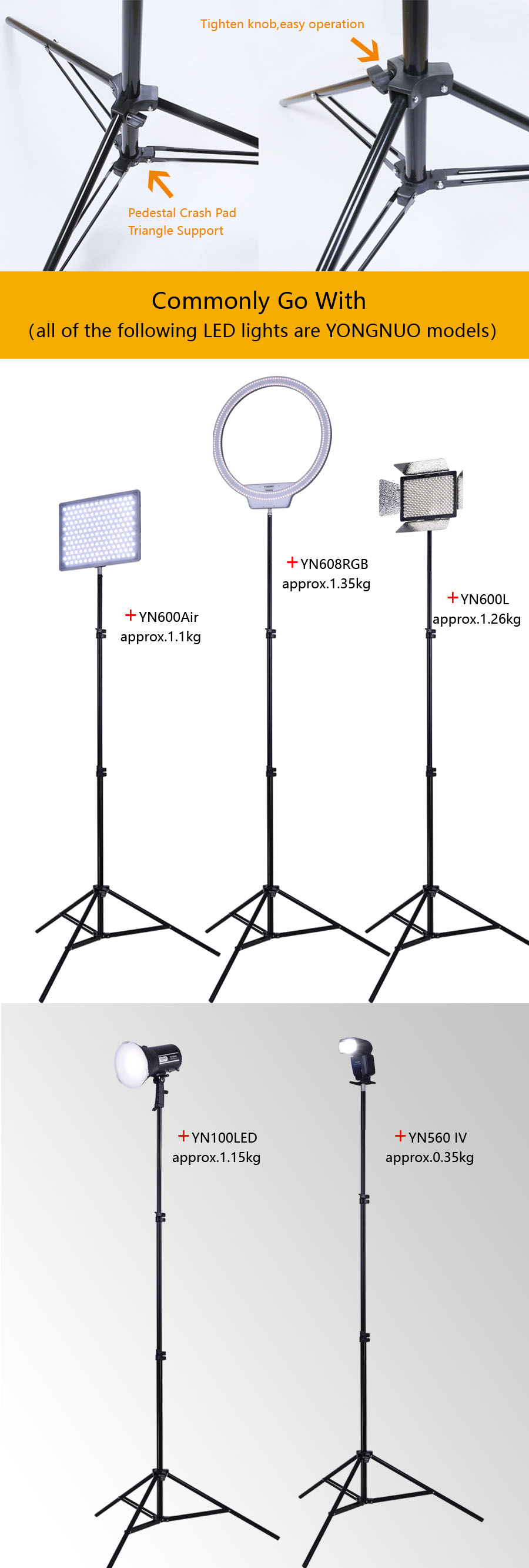 LED Light light stand