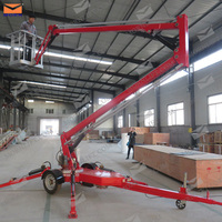 12m safety hydraulic articulating mini boom lift for project