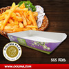 Recycled hot food tray,disposable paper food tray,biodegradable food to go