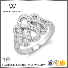 Wholesale 925 Silver Vogue Diamond Wedding Ring Female Jewelry Rings RC0423552857