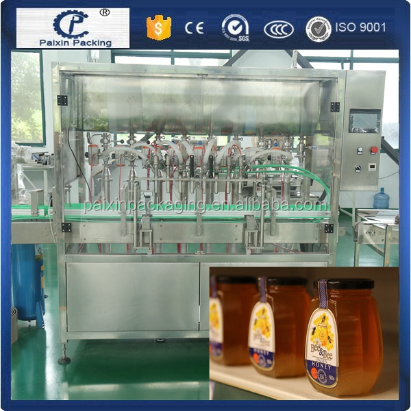 Shanghai factory special designed automatic efficient honey filling capping machine with high quality