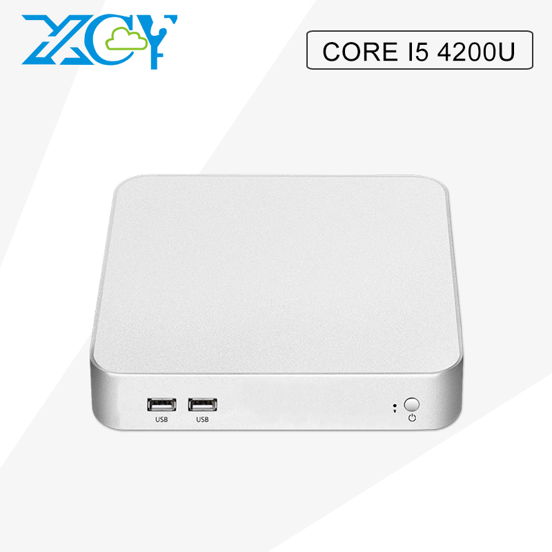 XCY mini pc Core I5 4200U 4G RAM 16G hard disk Fanless industrial panel with 300M WIFI mini computer Windows10