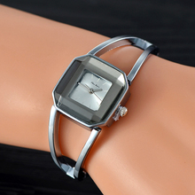 >>>2018 Square Lady Watches Fashion Korean Student Gift Stainless Steel Bracelet Quartz Watch