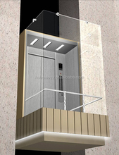 Observation Panoramic Commercial Rectangle Glass Elevator