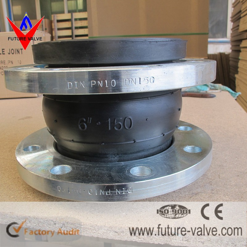 PN10/16 Galvanized Single Ball Rubber Expansion Joint