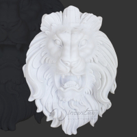 alibaba china wholesale home decor stone carving marble lion head sculpture