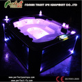 New arriveal Victoria 5 people luxurious outdoor spa/swim pool/bathtub for home and hotel with LED light jets