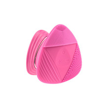 Wholesale Rechargeable face cleaning brush silicone cleansing phototherapy facial supplier