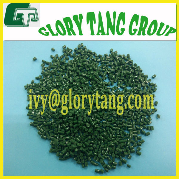 biodegradable plastic pellets,100% biodegradable, different colors, dark green