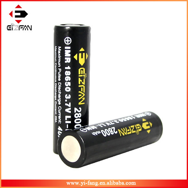Wholesale 18650 40A 2800mah high drain battery with Flat Top