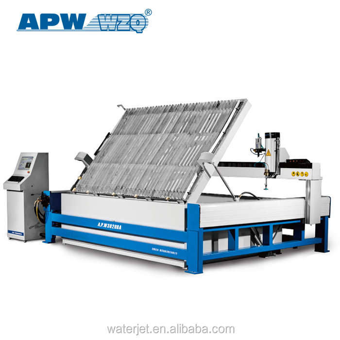 water jet cutting machine with 3-axis cutting head----Apw water jet cutting