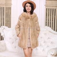 Women's Korea Style Genuine mink fur jacket