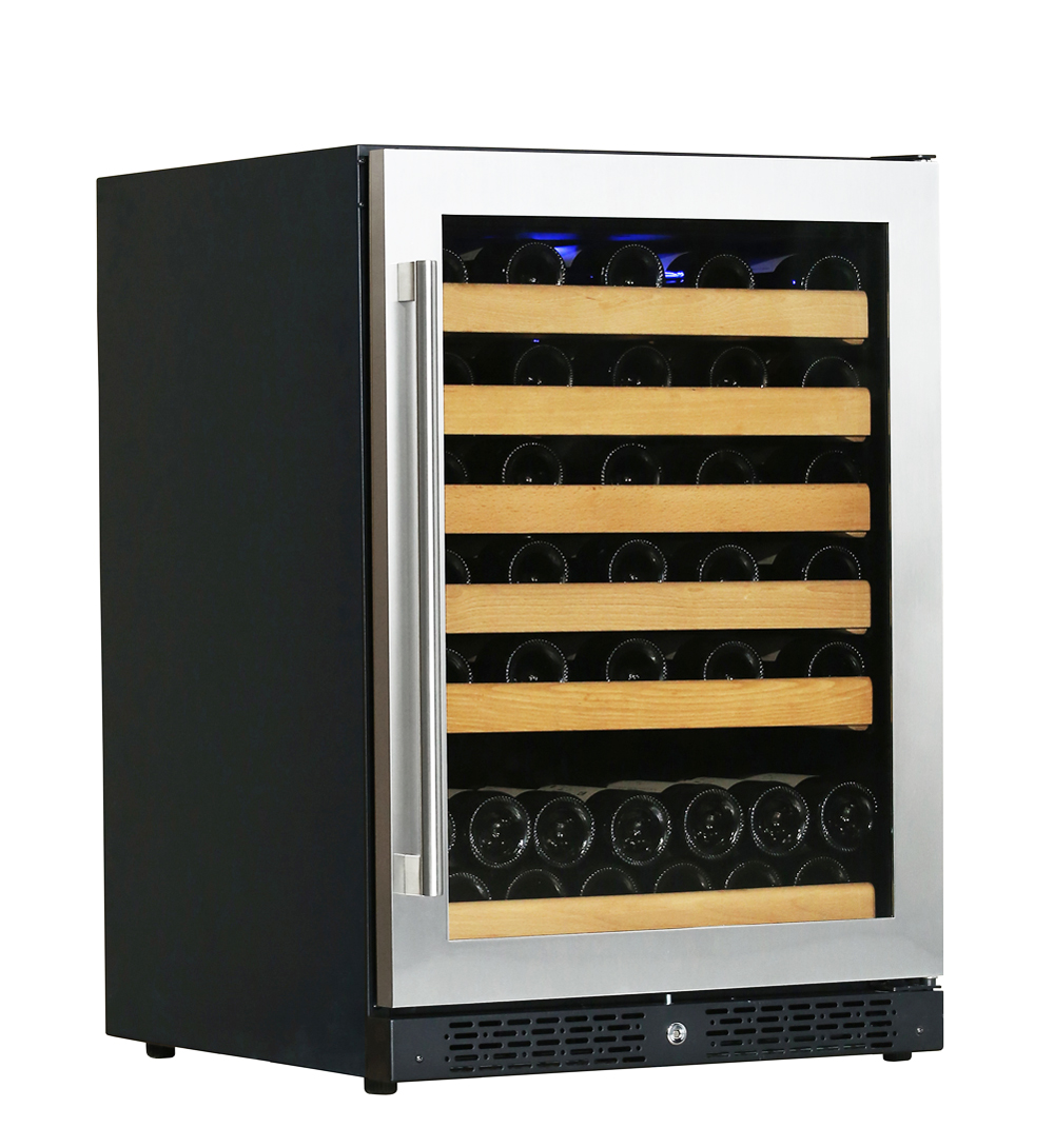 Single zone built-in wine cooler refrigerator