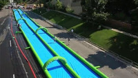 2015 popular 300m slide the city slip and slide,inflatable slide city,inflatable city slide for kids and adult