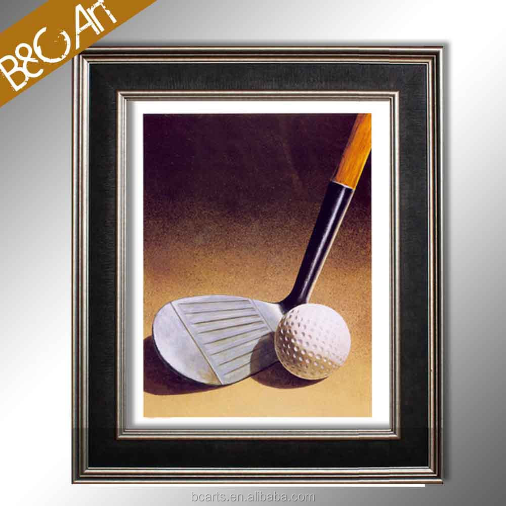 Modern still life photo print golf brassie ball painting canvas picture by number